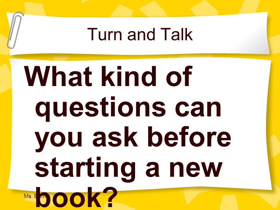 What kind of questions can you ask before starting a new book