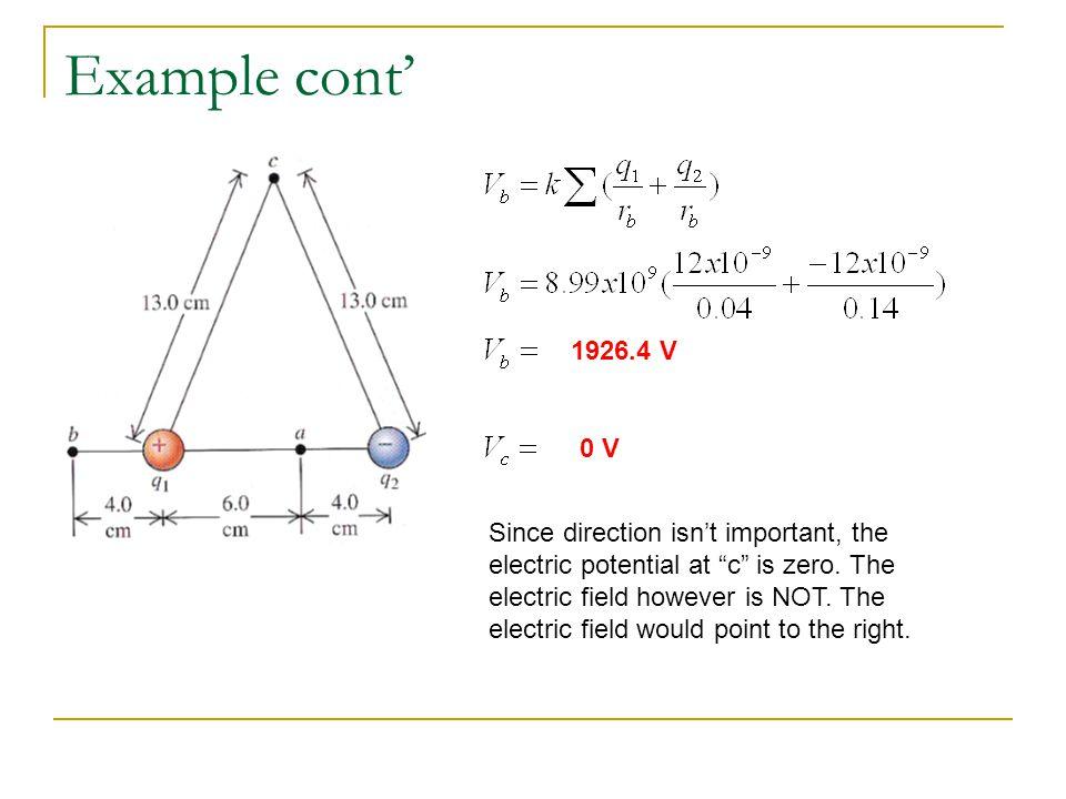 Example cont' 1926.4 V. 0 V.