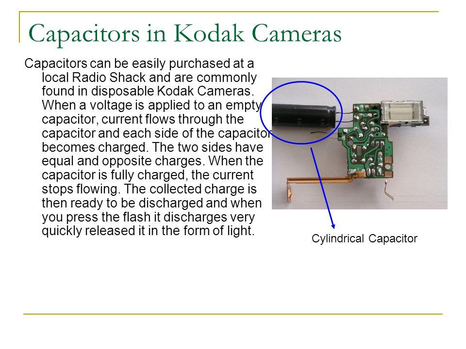 Capacitors in Kodak Cameras