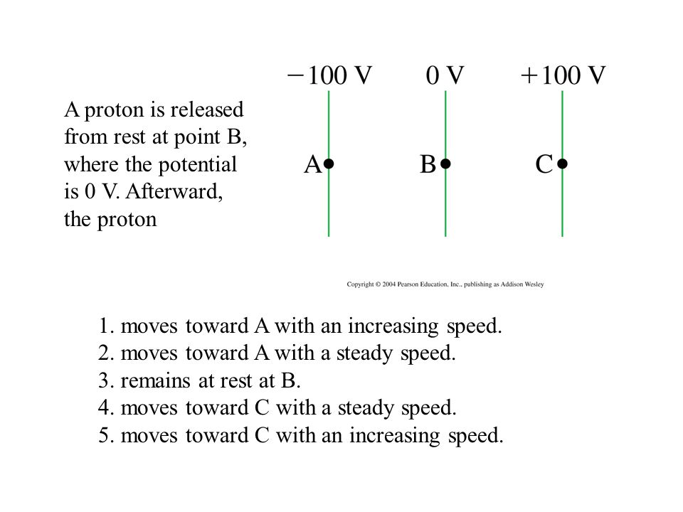 1. moves toward A with an increasing speed.