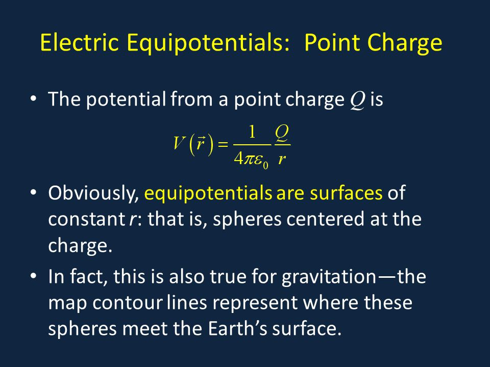 Electric Equipotentials: Point Charge