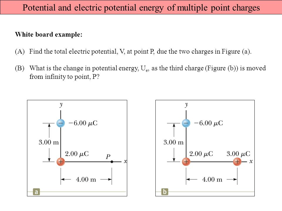 Potential and electric potential energy of multiple point charges