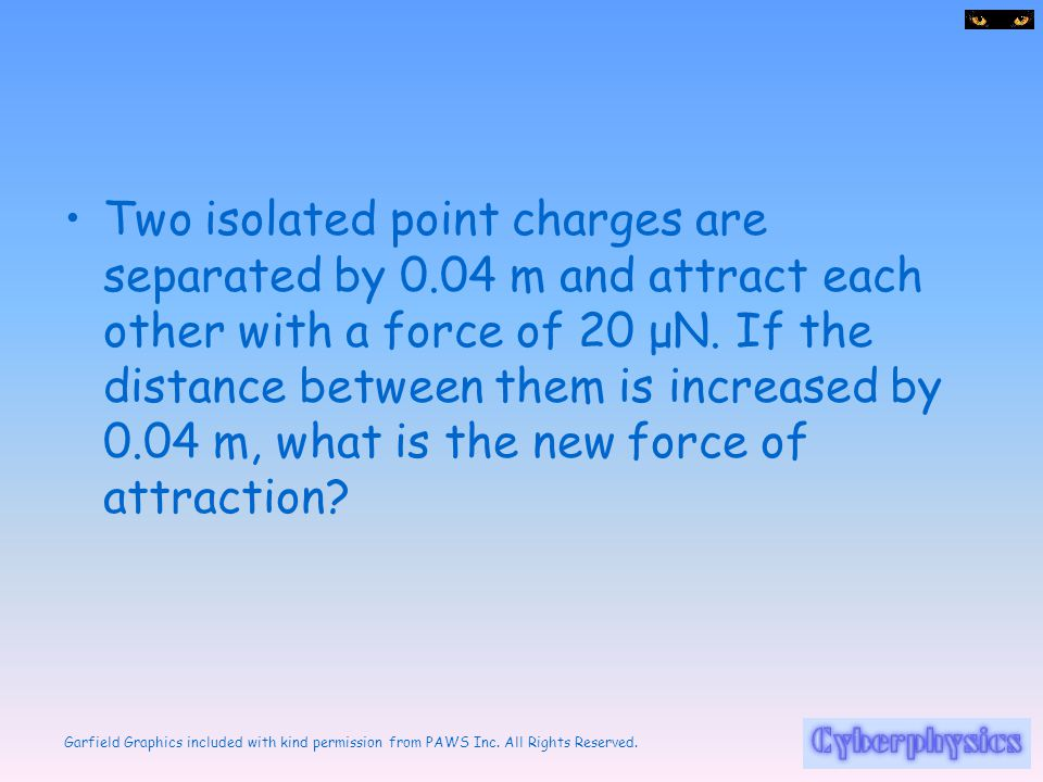 Two isolated point charges are separated by 0