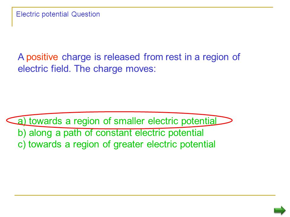 Electric potential Question