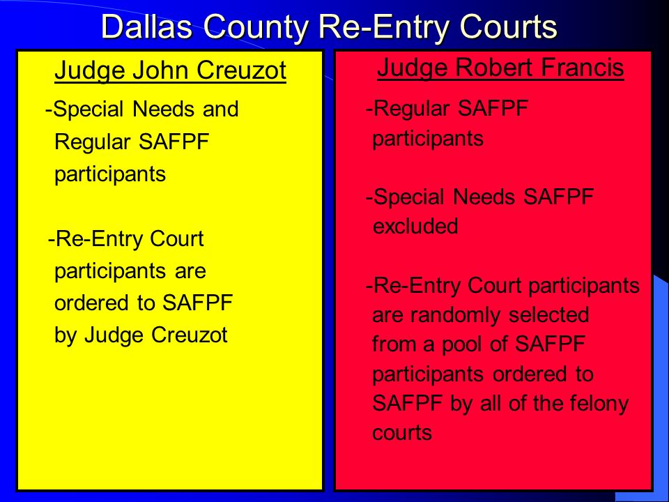 Dallas County Re-Entry Courts