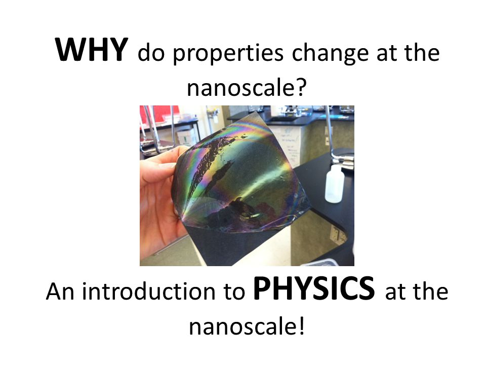 WHY do properties change at the nanoscale