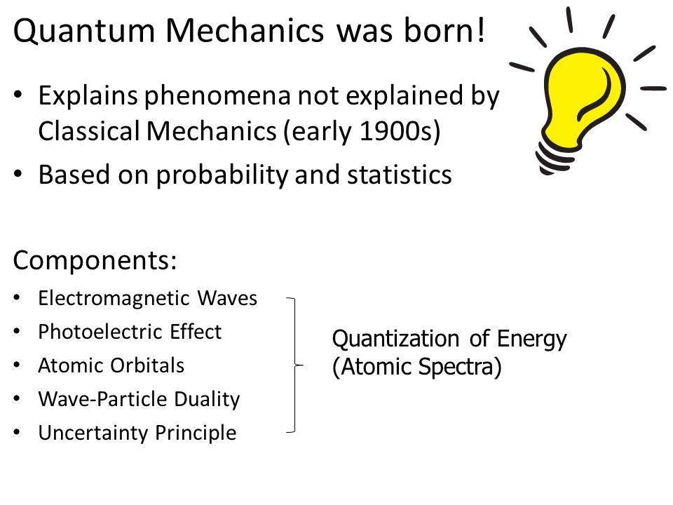 Quantum Mechanics was born!
