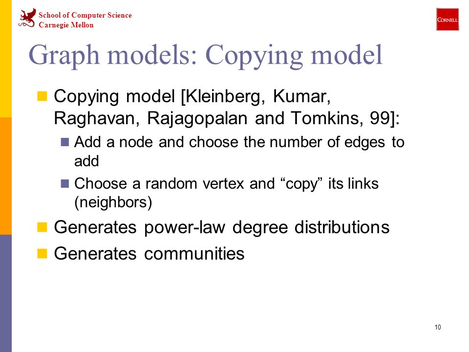 Graph models: Copying model