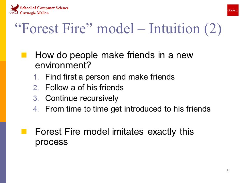 Forest Fire model – Intuition (2)