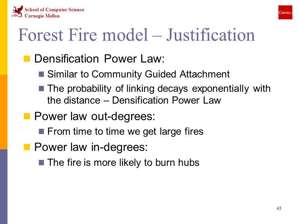 Forest Fire model – Justification