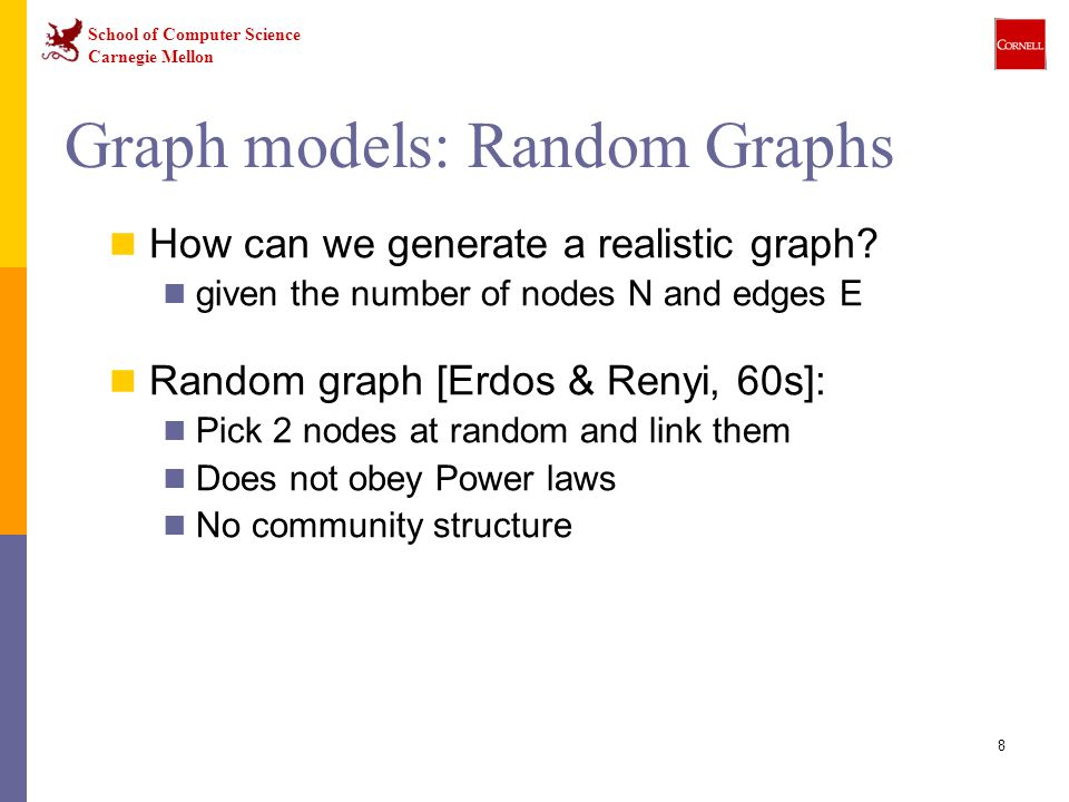Graph models: Random Graphs