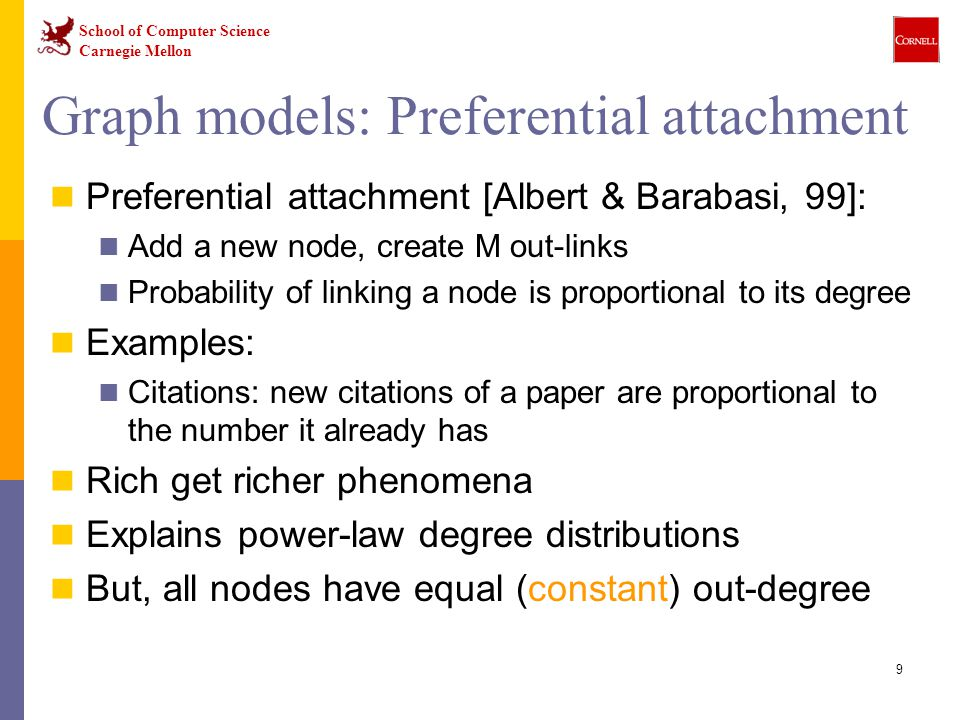 Graph models: Preferential attachment