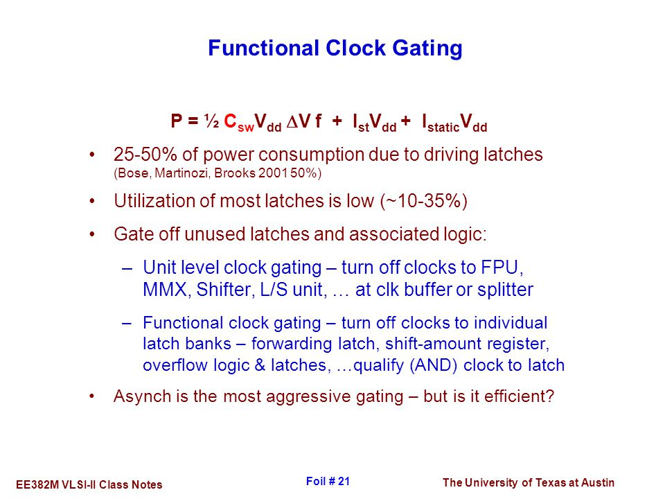 Functional Clock Gating