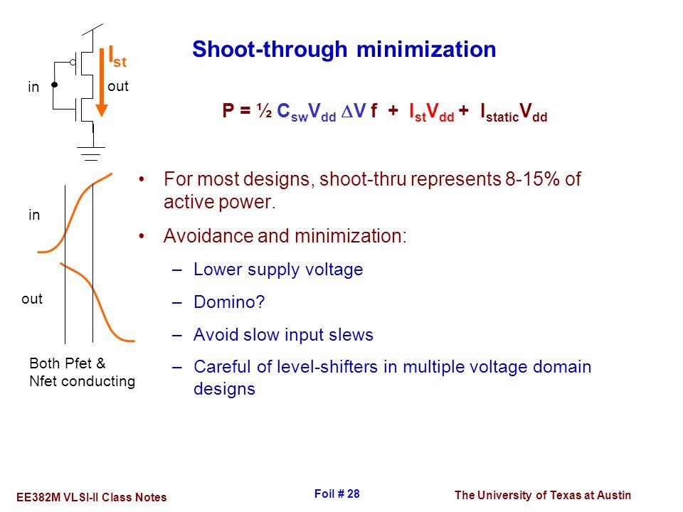 Shoot-through minimization