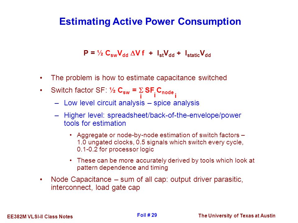 Estimating Active Power Consumption