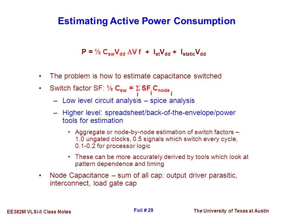 Estimating Active Power Consumption