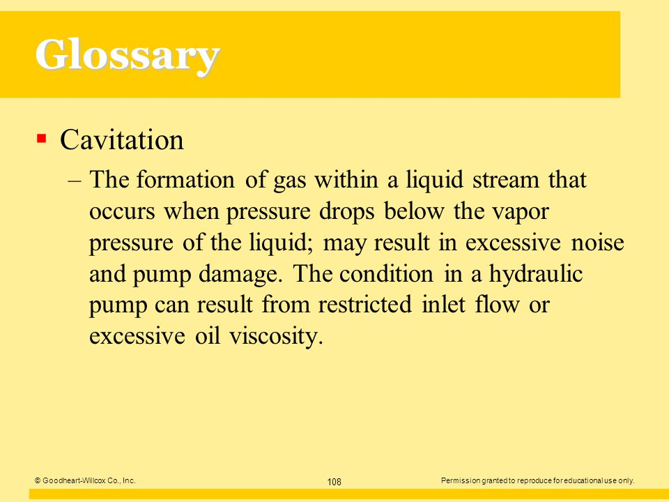 Glossary Cavitation.