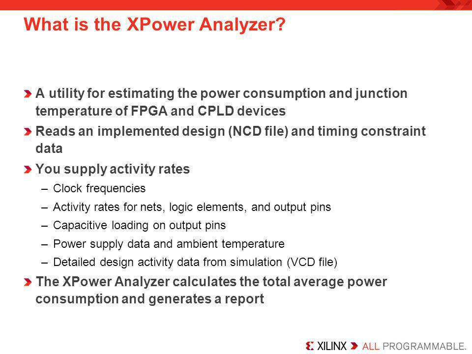 What is the XPower Analyzer