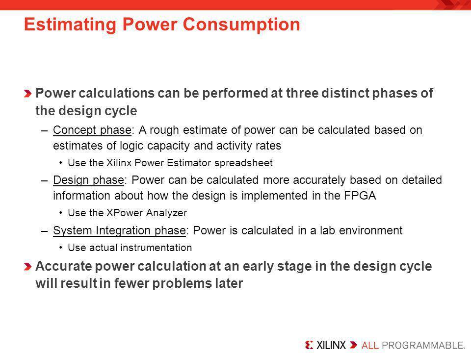Estimating Power Consumption