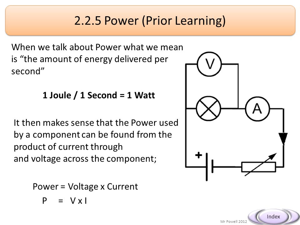 2.2.5 Power (Prior Learning)