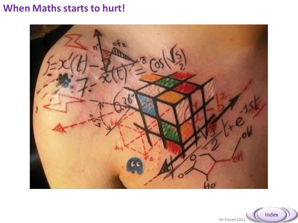 When Maths starts to hurt!