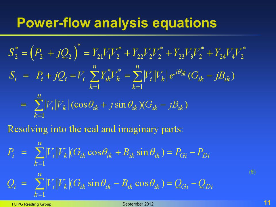 Power-flow analysis equations