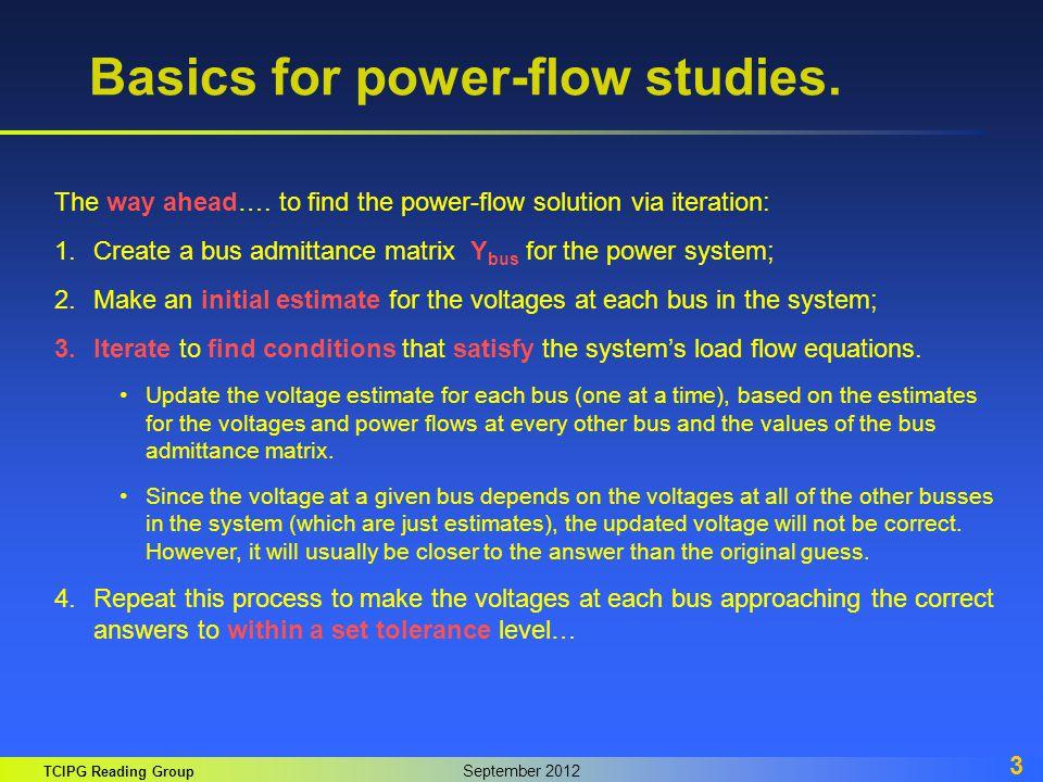 Basics for power-flow studies.