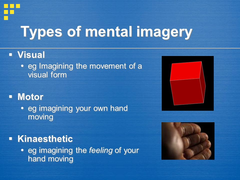 Types of mental imagery
