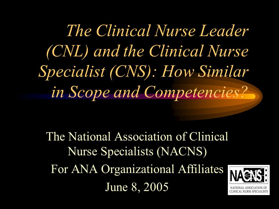 The Clinical Nurse Leader (CNL) and the Clinical Nurse Specialist (CNS): How Similar in Scope and Competencies