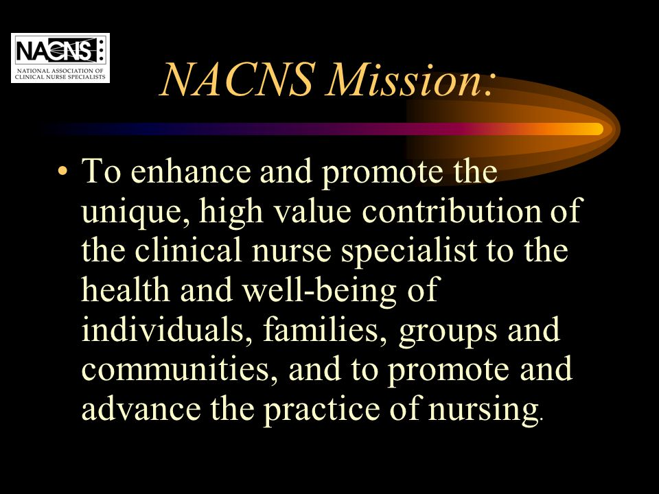 NACNS Mission: