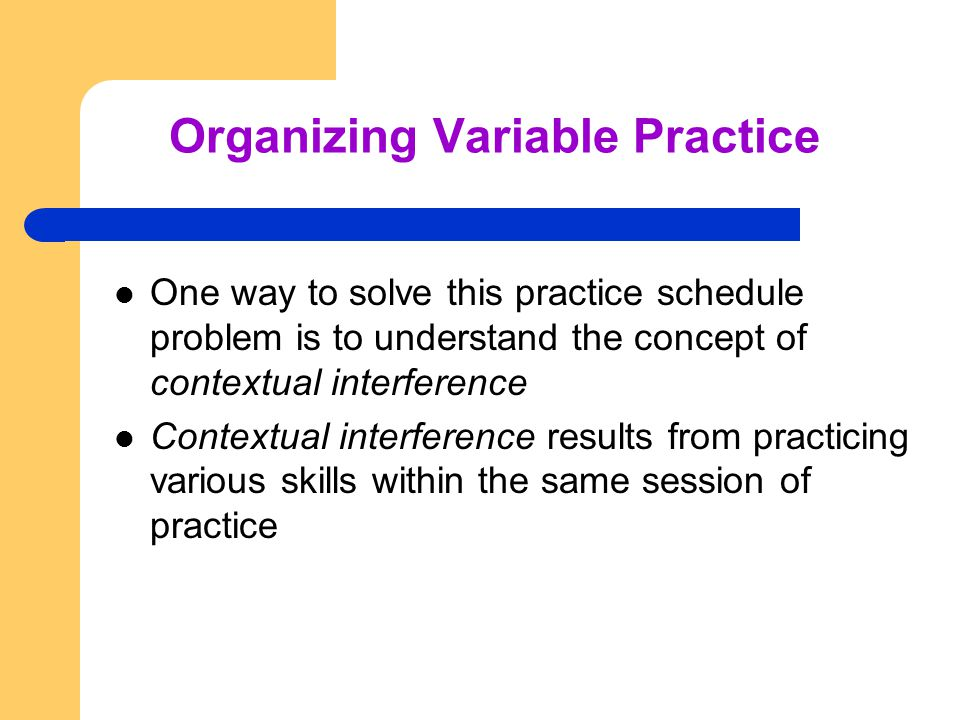 Organizing Variable Practice