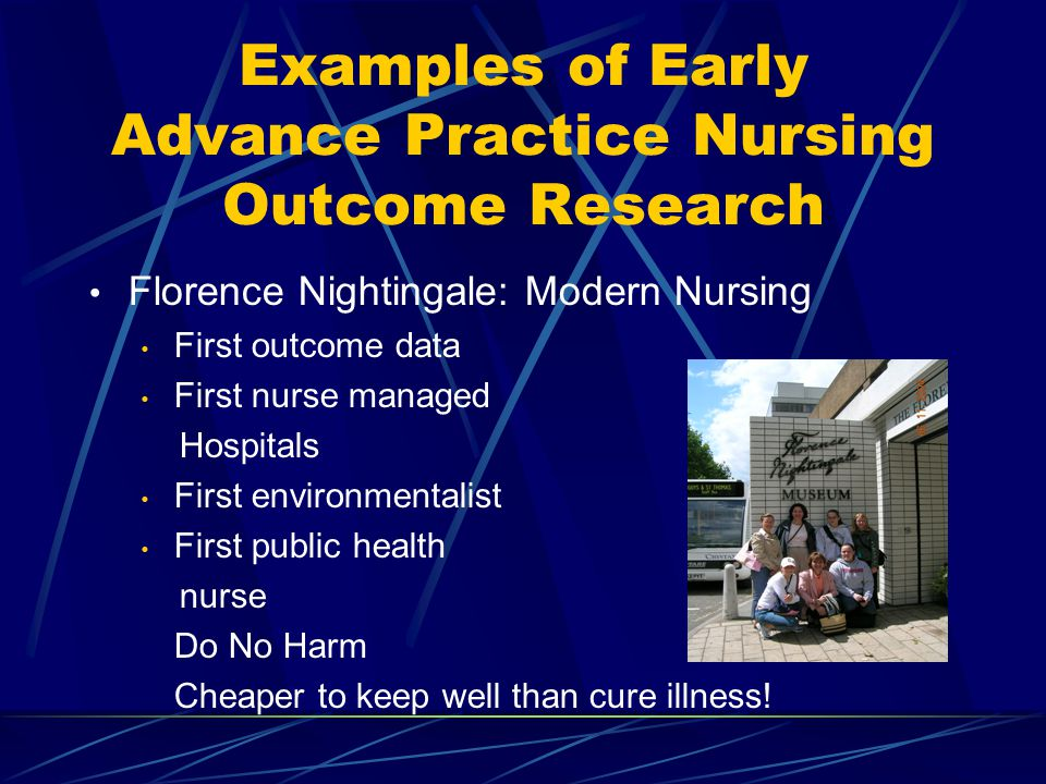 Examples of Early Advance Practice Nursing Outcome Research