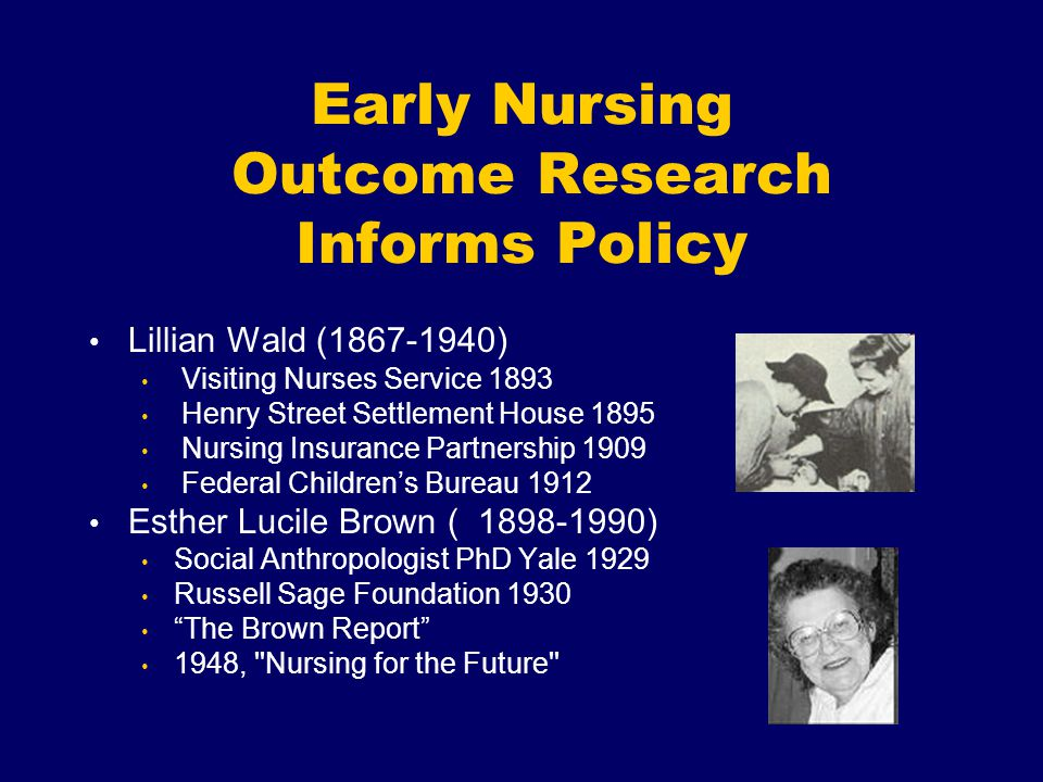 Early Nursing Outcome Research Informs Policy