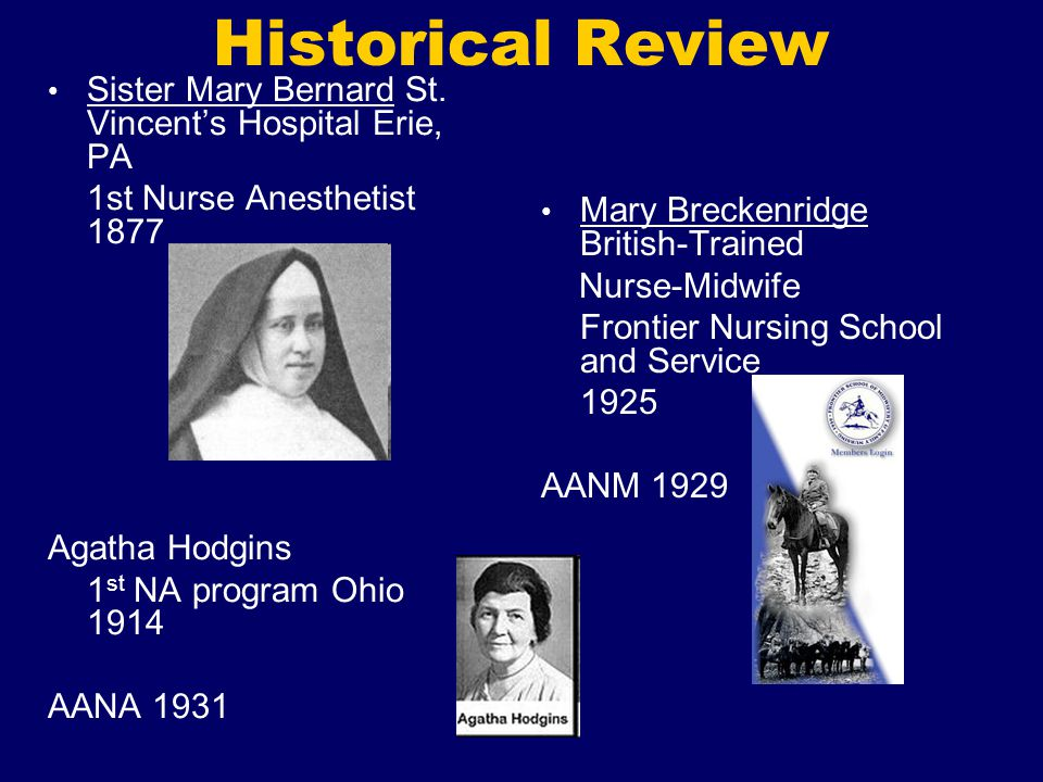 Historical Review Sister Mary Bernard St. Vincent's Hospital Erie, PA
