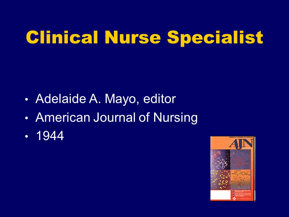 Clinical Nurse Specialist