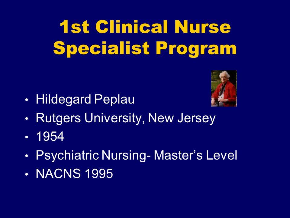 1st Clinical Nurse Specialist Program