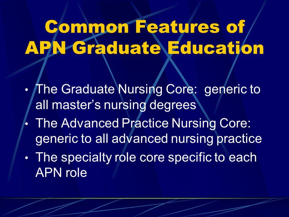 Common Features of APN Graduate Education
