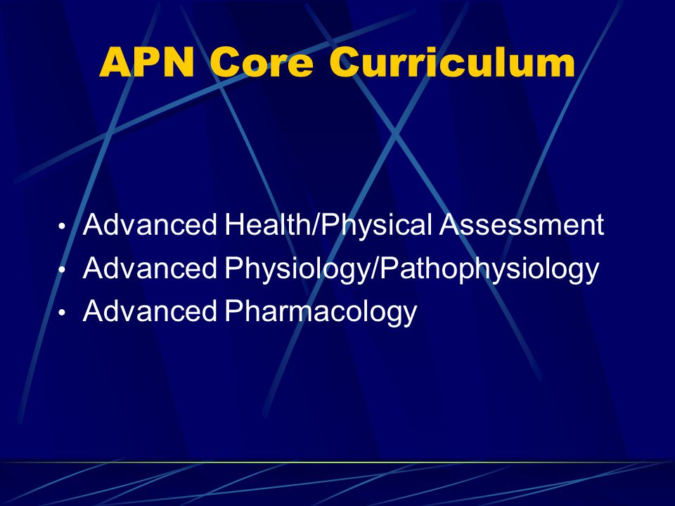 APN Core Curriculum Advanced Health/Physical Assessment