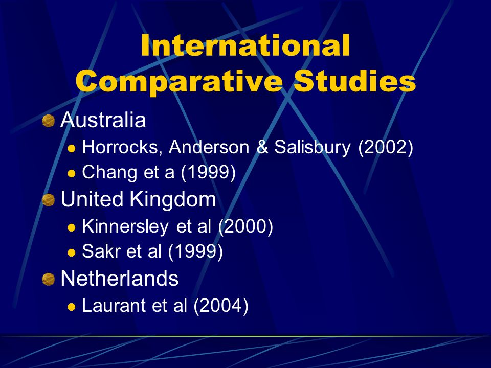 International Comparative Studies