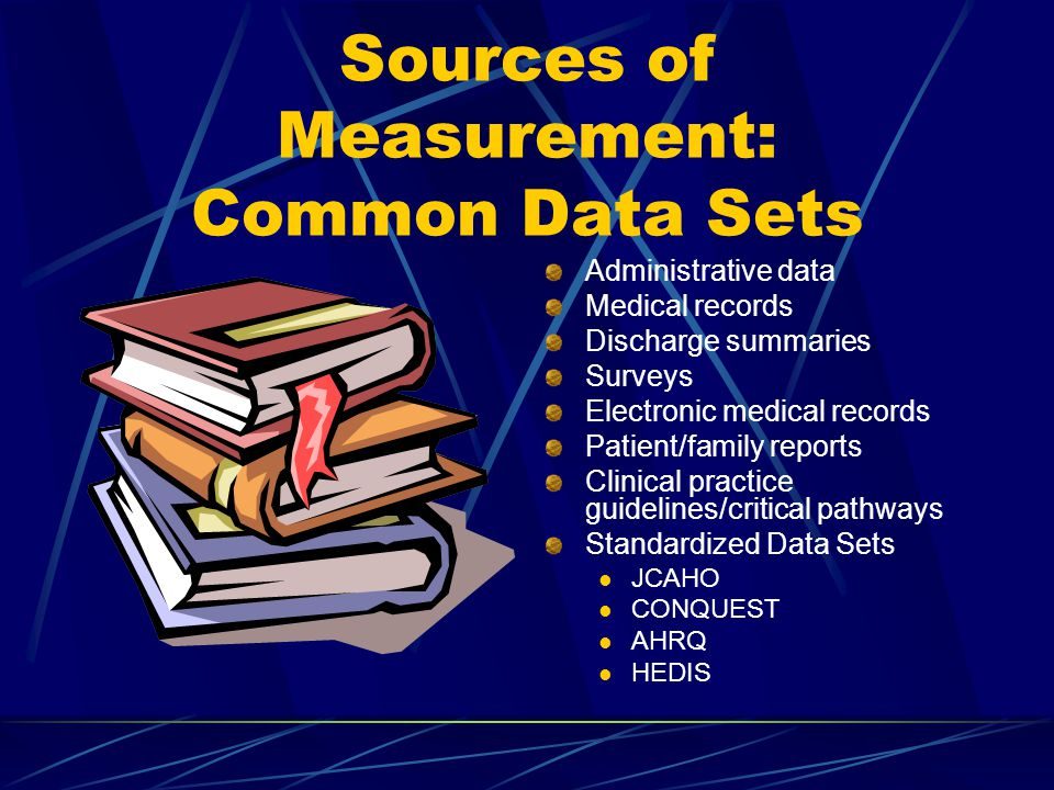 Sources of Measurement: Common Data Sets