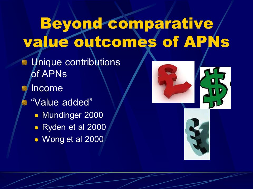 Beyond comparative value outcomes of APNs