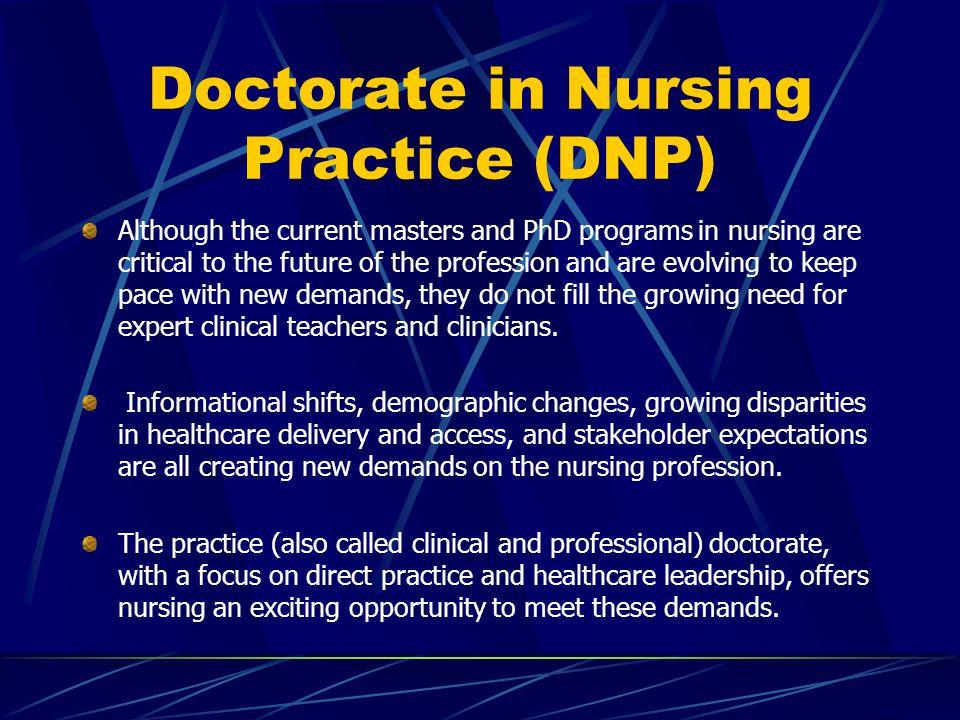 Doctorate in Nursing Practice (DNP)