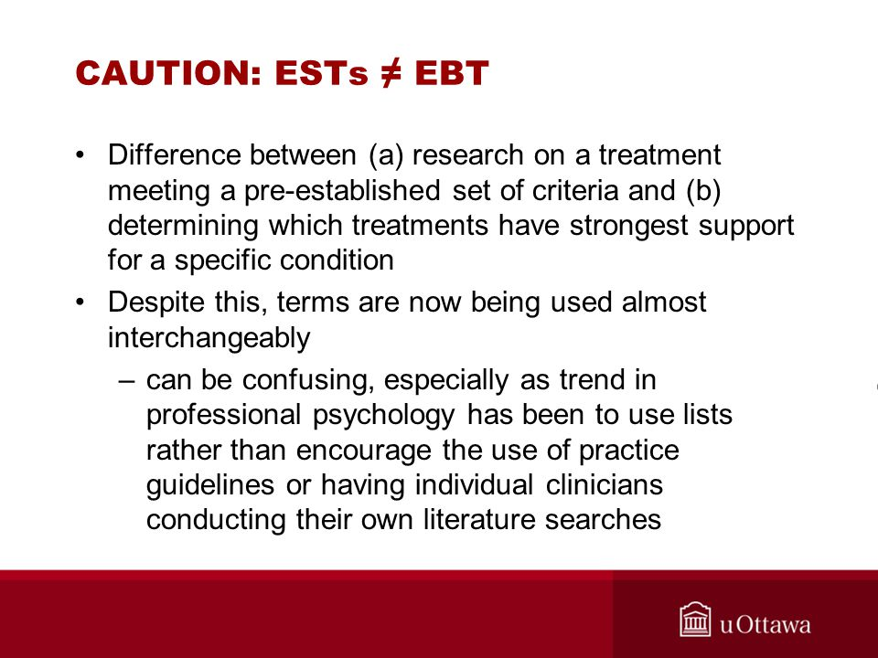 CAUTION: ESTs ≠ EBT