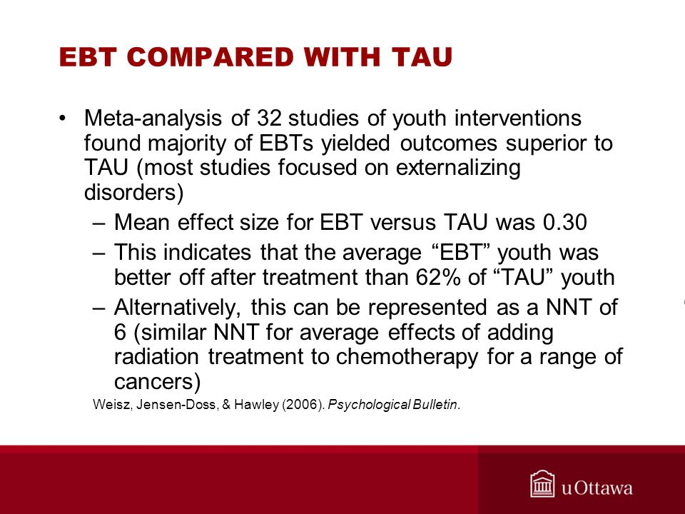 EBT COMPARED WITH TAU