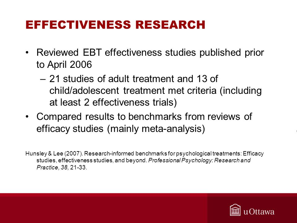 EFFECTIVENESS RESEARCH