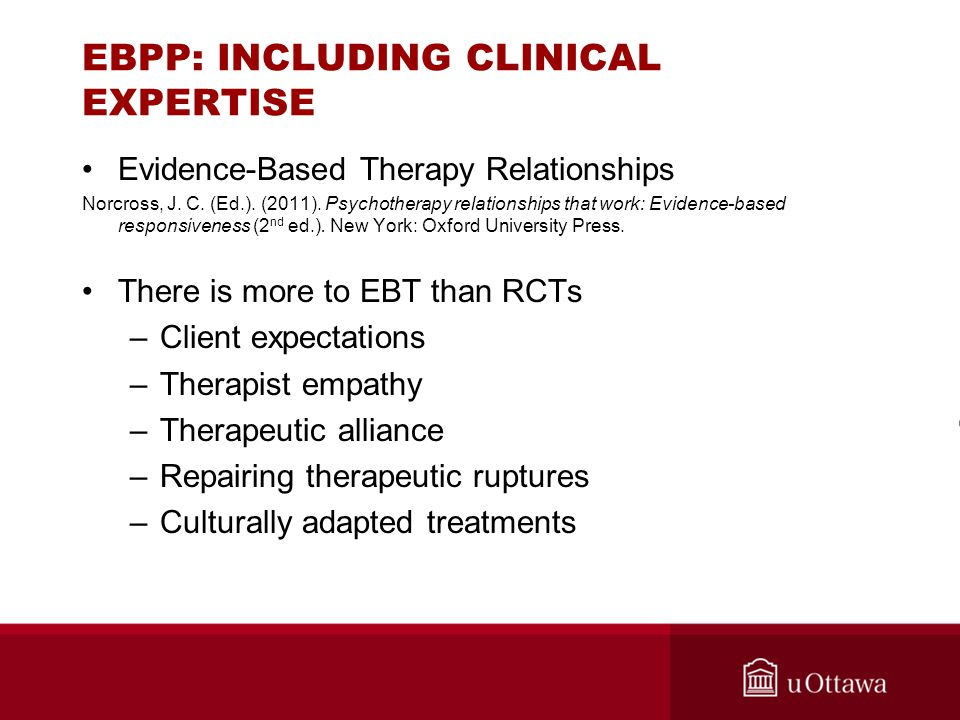 EBPP: INCLUDING CLINICAL EXPERTISE