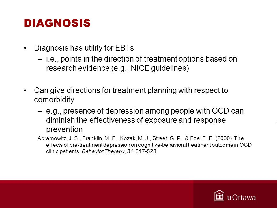 DIAGNOSIS Diagnosis has utility for EBTs