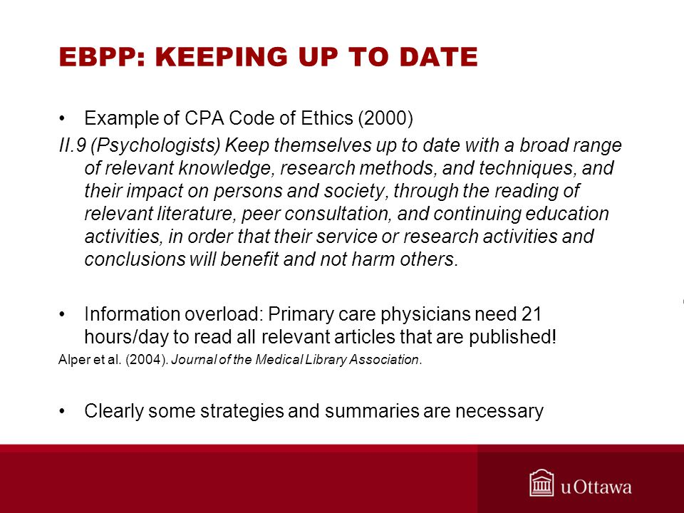EBPP: KEEPING UP TO DATE