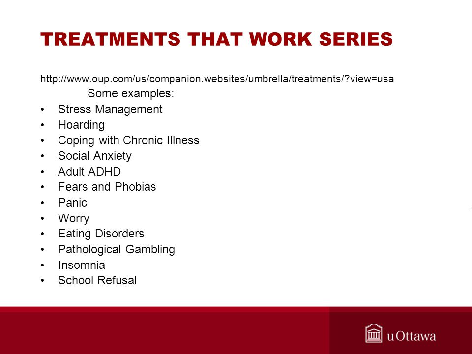 TREATMENTS THAT WORK SERIES