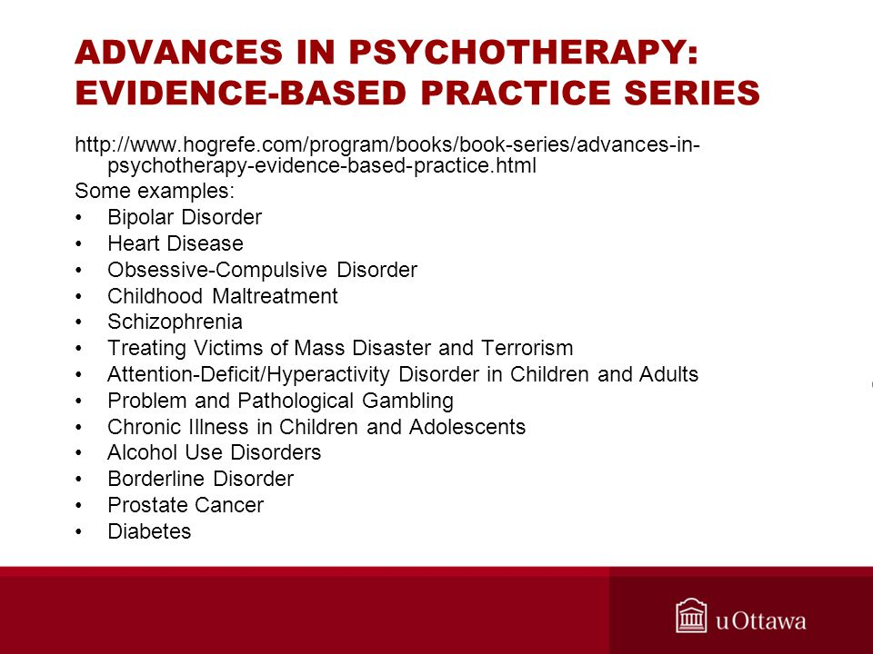 ADVANCES IN PSYCHOTHERAPY: EVIDENCE-BASED PRACTICE SERIES